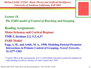 Michael Arbib: CS564 - Brain Theory and Artificial Intelligence ...