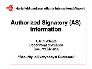 Authorized Signatory AS Information
