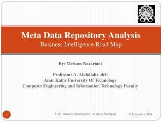 Meta Data Repository Analysis Business Intelligence Road Map ...