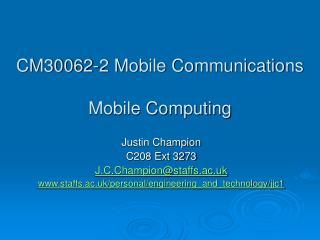 CM30062-2 Mobile Communications
