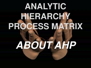 ANALYTIC HIERARCHY PROCESS MATRIX