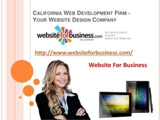 California Web Development Firm -Your Website Design Company
