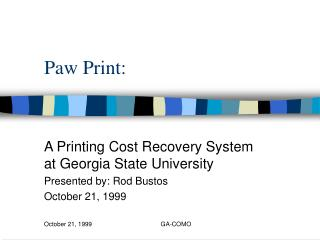 Paw Print:
