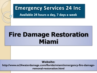 Fire Damage Restoration Miami