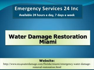 Water Damage Restoration Miami