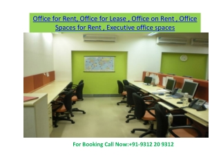 Furnished office spaces
