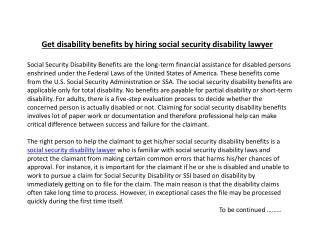 Get disability benefits by hiring social security disability