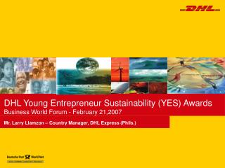 DHL Young Entrepreneur Sustainability YES Awards Business ...