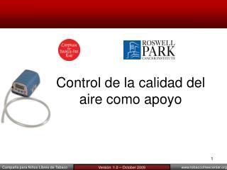 Control de la calidad del aire como apoyo
