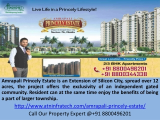 Amrapali Princely Estate Call 8800496201