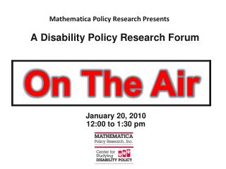 A Disability Policy Research Forum