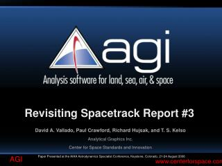 Revisiting Spacetrack Report 3