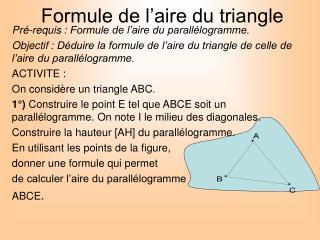 Formule de l