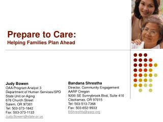 Prepare to Care: Helping Families Plan Ahead
