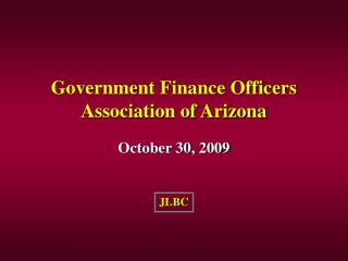 Government Finance Officers Association of Arizona