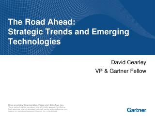The Road Ahead: Strategic Trends and Emerging Technologies