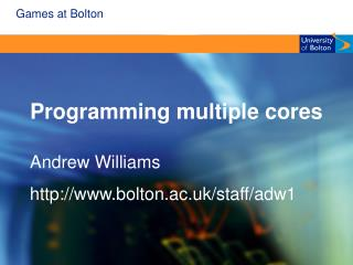 Programming multiple cores