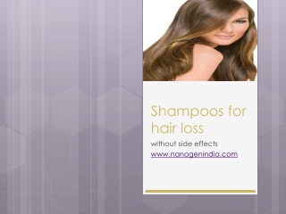 Shampoos for hair loss without side effect
