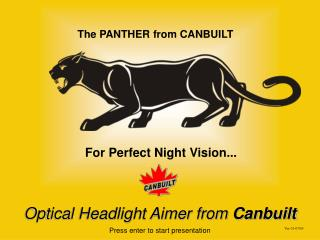 The Panther Optical Headlight Aimer from Canbuilt