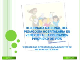III JORNADA NACIONAL DEL PEDAGOG