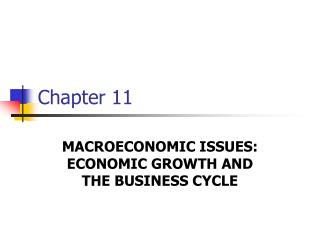 MACROECONOMIC ISSUES:  ECONOMIC GROWTH AND THE BUSINESS CYCLE