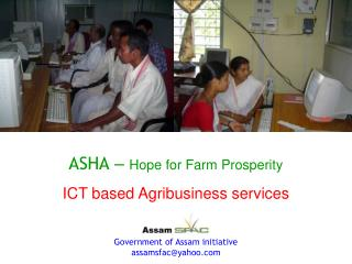 ASHA   Hope for Farm Prosperity