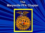 The Marysville FFA Chapter