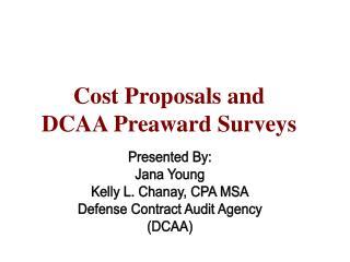 Intro to DCAA Preaward Surveys