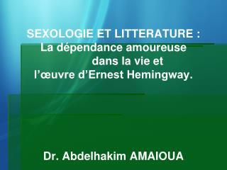Sexpologie et litterature - Sexologie