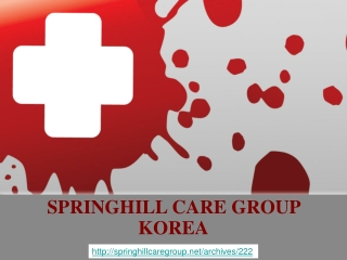 springhill care group korea, SPRINGHILL CARE GROUP: WHY LAUG