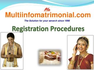 Tamil Matrimony - MultiInfoMatrimonial.com Registration