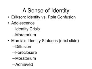 Developmental Progress of Identity Formation