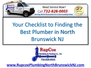 Finding the Best Licensed Plumber in North Brunswick NJ
