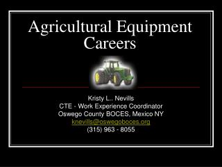 Agricultural Equipment Careers