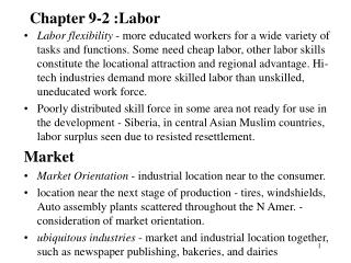Chapter 9-2 :Labor