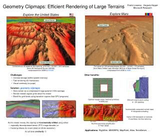 Efficient Rendering of Large Terrains