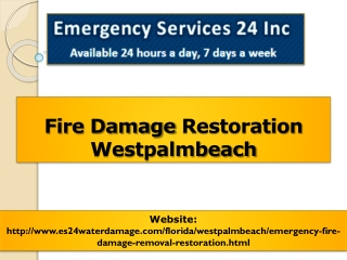Fire Damage Restoration Westpalmbeach