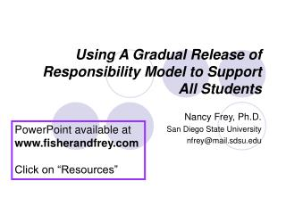 Using A Gradual Release of Responsibility Model to Support All ...