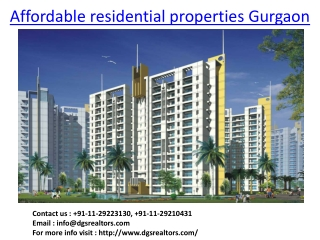 Affordable Residential Properties Gurgaon