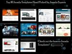 Top 10 Joomla Templates Hand Picked by Joomla Experts