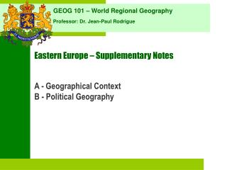Eastern Europe   Supplementary Notes
