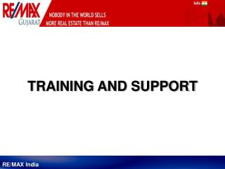 RE/MAX India Training and Support