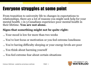 Mental Health Issues in Policing Presentation to the Canadian