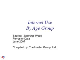 Internet Use By Age Group