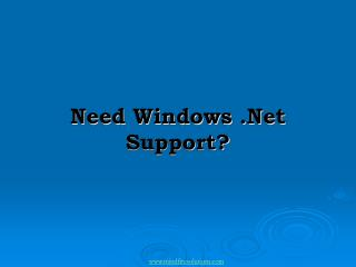 Windows .Net Development