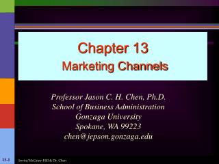 Chapter 13  Marketing Channels