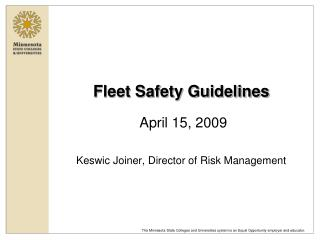 Fleet Safety Guidelines