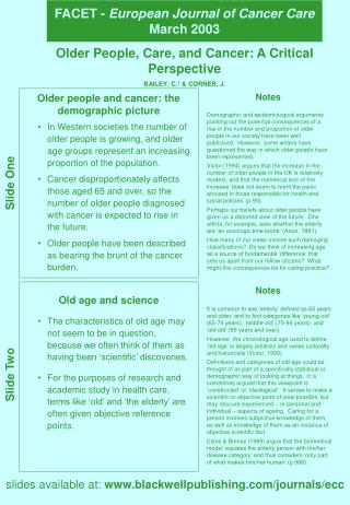 FACET - European Journal of Cancer Care March 2003