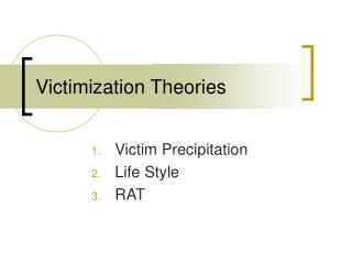 Victimization Theories