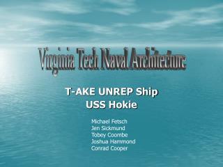 T-AKE UNREP Ship USS Hokie